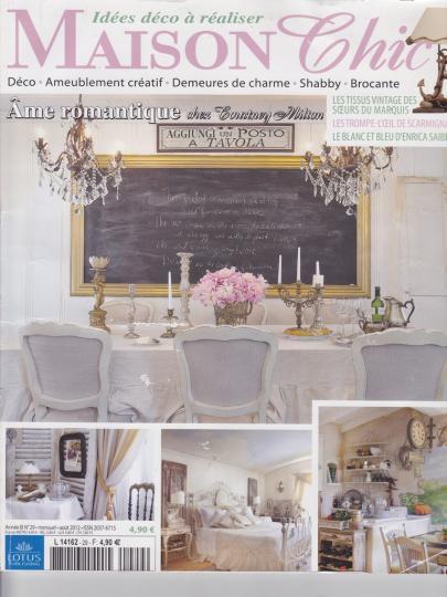 La presse parle du hameau de la reine for Abonnement magazine maison chic